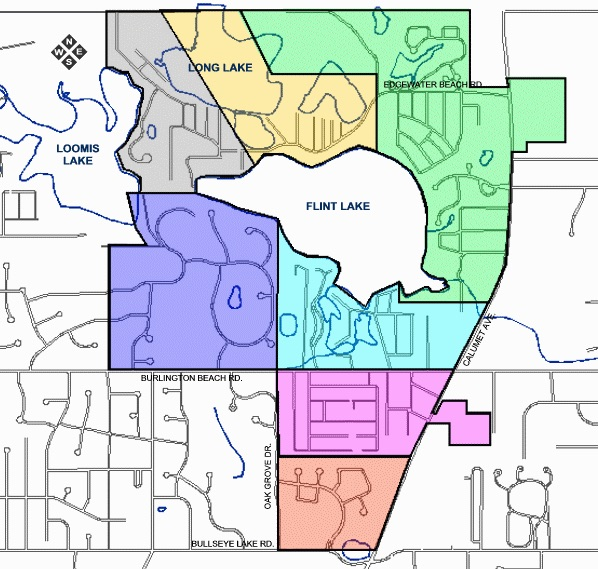 Boundary Map for the Board Members of the Valparaiso Lakes Area Conservancy District