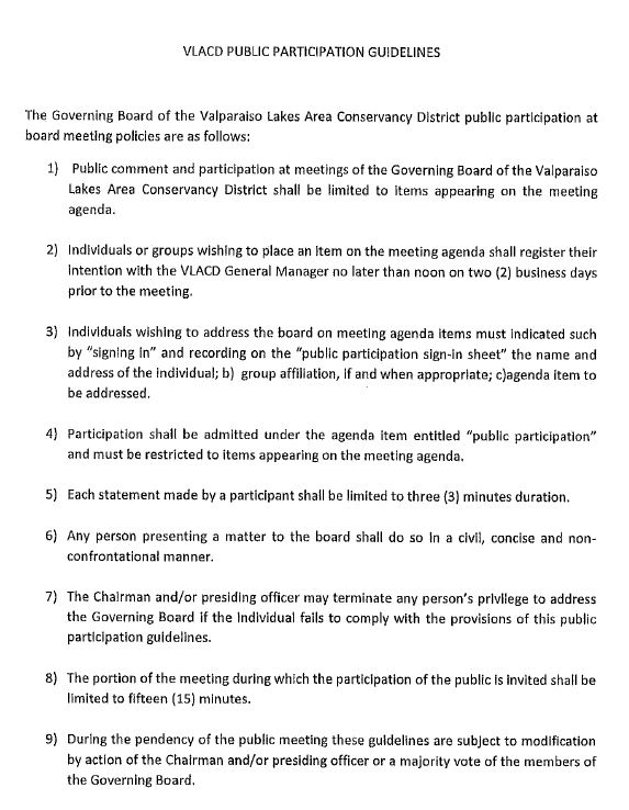 Board Meeting Public Participation Guidelines