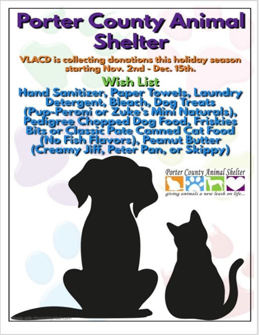 Porter County Animal Shelter Donations