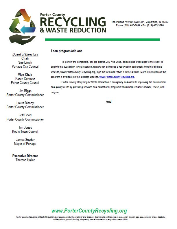 Recycling Event Containers Cont.